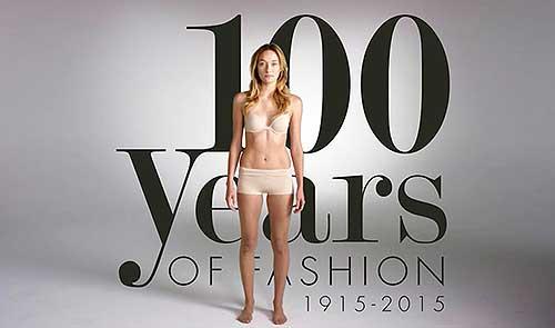 100 années de mode en 2 minutes