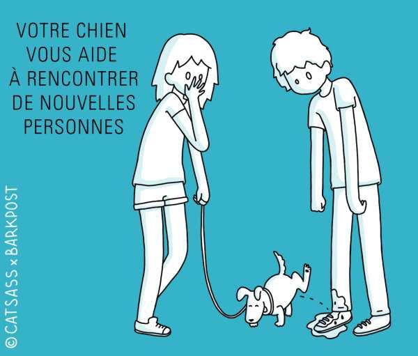 votre chien vous aide à rencontrer de nouvelles personnes