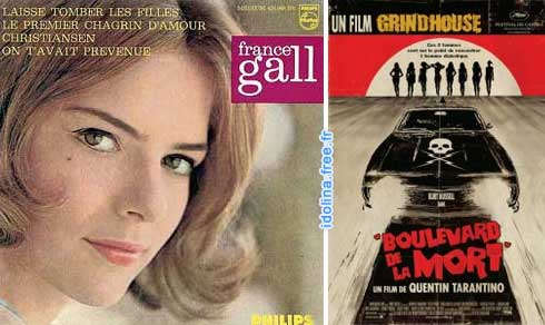 France Gall - Laisse tomber les filles - Tarantino - Death Proof