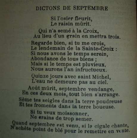 dictions septembre