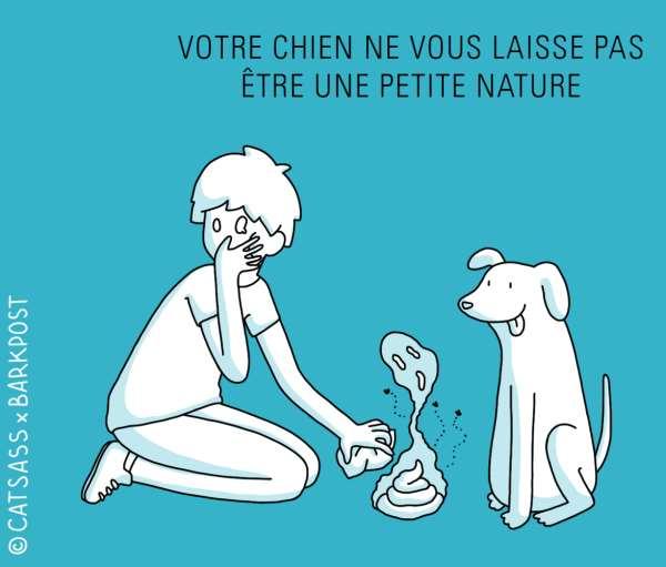 votre chien ne vous laisse pas être une petite nature