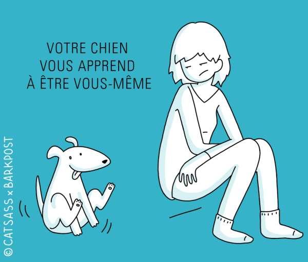 votre chien vous apprend à être vous même