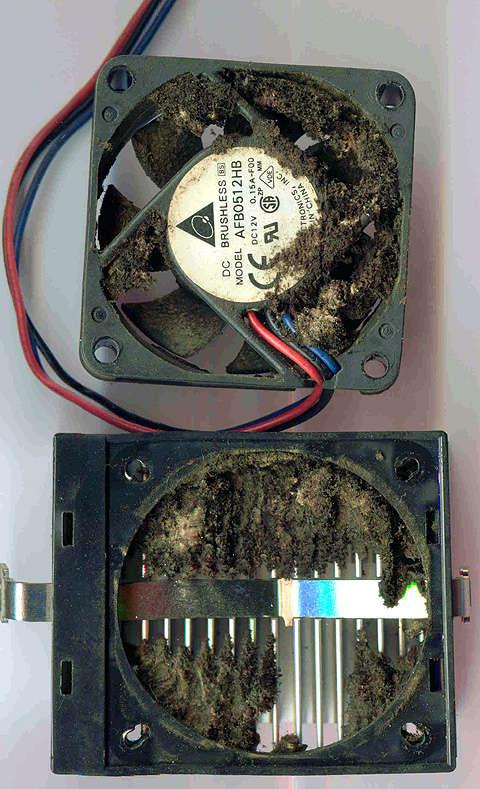 Risque ventilateur sale